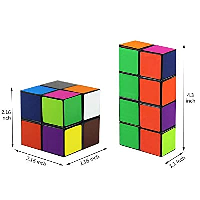 Euclidean Cube Star Cube Magic Cube Set (2 Piece), Transforming Cubes Magic Puzzle Cubes for Kids and Adults: Toys & Games