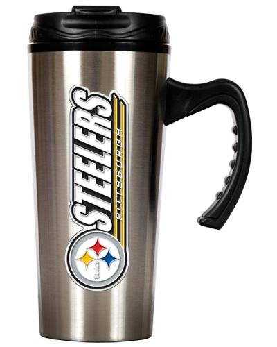 NFL Pittsburgh Steelers 16-Ounce Stainless Steel Travel Mug