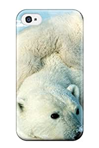 Tpu Case Cover Compatible For Iphone 4/4s/ Hot Case/ Polarbears