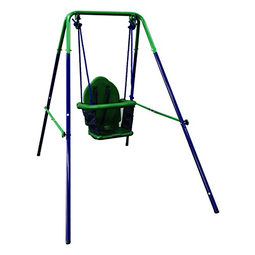 ALEKO BSW02 Child Baby Toddler Indoor Outdoor Swing Blue and Green