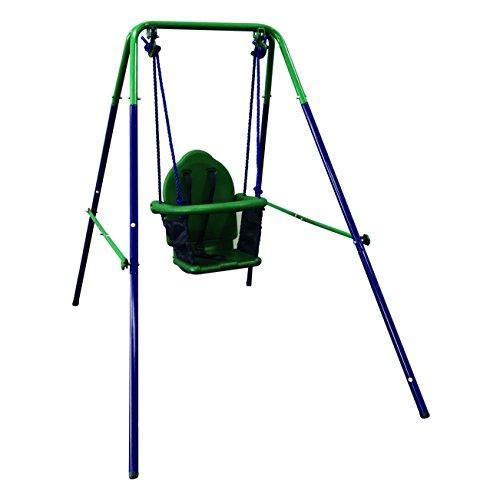 Up Wind Swing - ALEKO BSW02 Child Baby Toddler Indoor Outdoor Swing Blue and Green