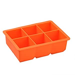 AIHOME™ Food Grade Silicone 6-Spuare Big Size Ice Cube Moulds & Trays (Random Delivery for Color)