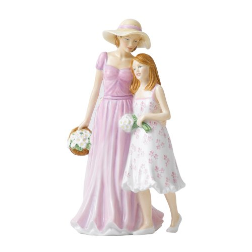 (Royal Doulton Pretty Ladies Figurine Togetherness, Mother's Day Figure Of The Year 2013, 8.6