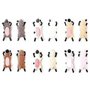 Textile Sheep Shaped Back Fixed Bracket for iPhone 4/4S(Assorted Color) --- COLOR:Beige