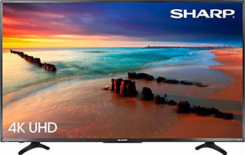 "Sharp 4K UHD LED 2160p Smart TV with HDR Roku TV  - 55"" - Re"