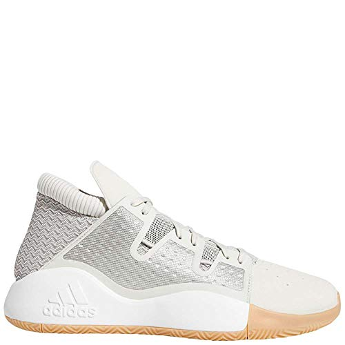 adidas Men's Pro Vision, raw White/Light Brown/Gum, 12 M US