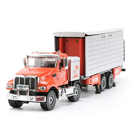 GreenSun 1:50 Double Layer Transformation Touring Car Toy Alloy Caravan Model Truck Kids Toys Tow Trucks (Caravan Touring)