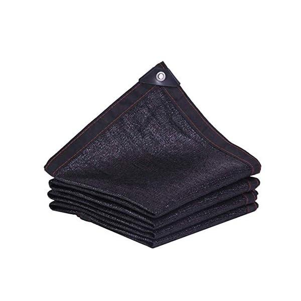 Giow - Telo protettivo per protezione solare in polietilene nero, 24 misure (colore: nero, dimensioni: 6 x 6 m) 1 spesavip