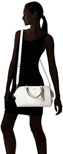 Guess - Bolso estilo bolera para mujer blanco Weiß Weiß