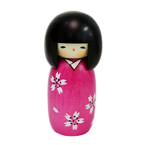 Usaburo Sosaku Kokeshi Doll Sakura Made in Japan