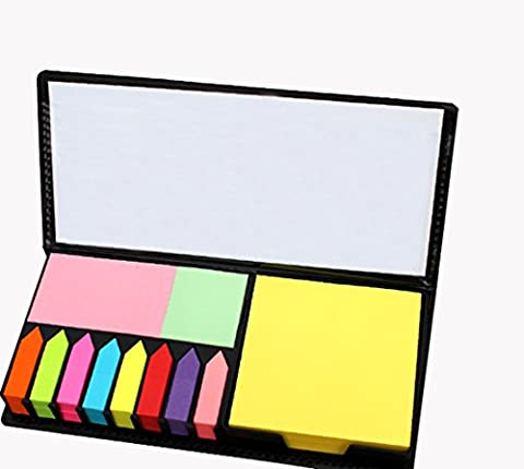 M.Y.Z value pack of sticky notes, a variety of color, four kinds of shapes, 11 × 200, paste seamless, leather box - Note Dispenser Value Pack