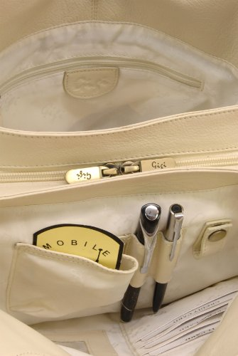 GIGI - OTHELLO 4326 - Bolso de hombro - Cuero Cream (Blanco roto)
