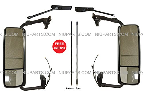 Door Mirror Power Heated Chrome with Arm – Driver & Passenger Side ( Fit: Volvo VNL VN VNM Truck )