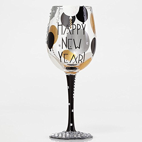 Enesco Blinging New Year Wine Glass by Lolita, 10.5''