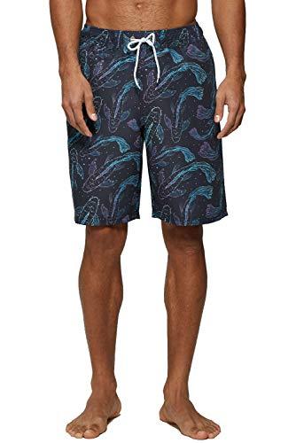 (ELF QUEEN Swim Trunks for Men Long Beachwear Swimsuits Quick Dry Surf Shorts Fancy Carp Large )