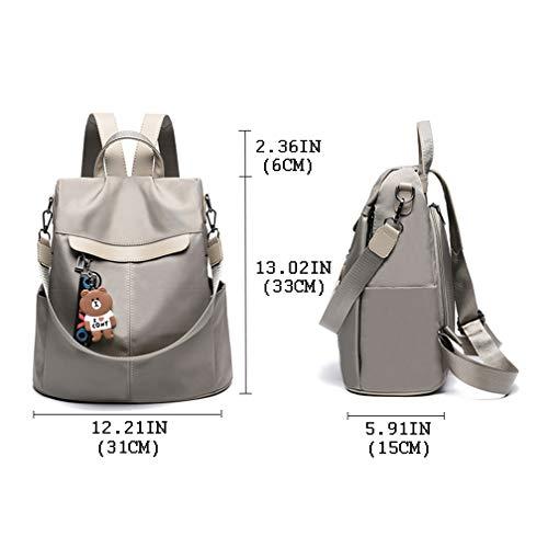 85c6ff227ed2 Women Backpack Purse Nylon Anti-theft Waterproof Casual Rucksack  Lightweight School Shoulder Bag by KURGOOL