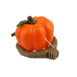 Jardin Plastic Pumpkin Shaped Pet Birds Feeder Cup, Orange Special Price