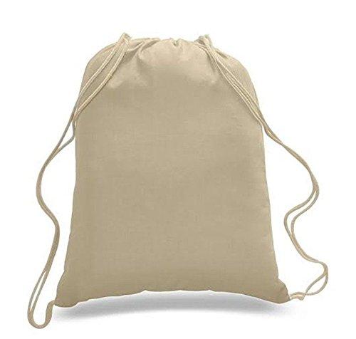 Pack of 10 Premuim Plain Natural Cotton Shopping School Bags Rucksacks Drawstring School Gym PE Book P E Eco Friendly Shoppers