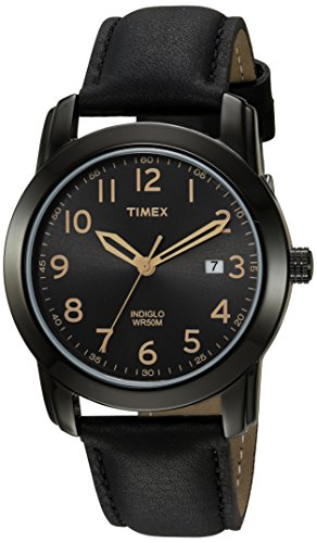 Timex Men's TW2R29800 Highland Street Black Leather Strap Watch