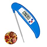 Digital Meat Thermometer Cooking Thermometer Instant Read with Food Safe Probe for Grill Kitchen bbq Smoker Oven Oil Milk by Lighting Mall (Blue)