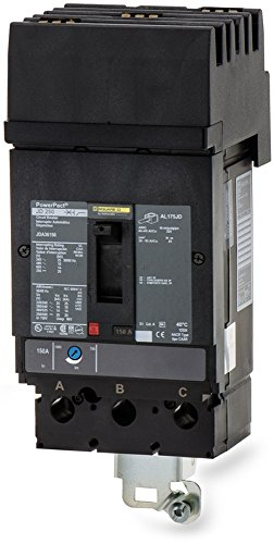 New Square D JDA36150 Circuit Breaker PowerPact 3 Pole ABC Phase 150A 600V by Square D