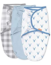 SwaddleMe Original Swaddle – Size Small/Medium, 0-3 Months, 3-Pack (Oh Deer )