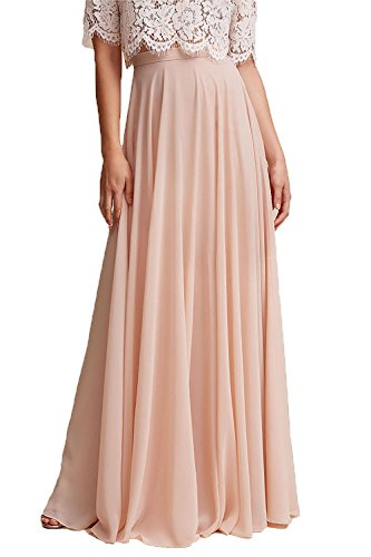 Honey Qiao Chiffon Bridesmaid Dresses High Waist Long Woman Maxi Skirt