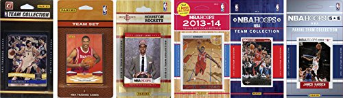 NBA Houston Rockets 6 Different Licensed Team Set Trading Card by C&I Collectables