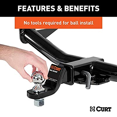 CURT 42178 1-7/8 and 2-Inch Chrome Steel Switch Ball Set, Up to 6,000 lbs. GTW: Automotive