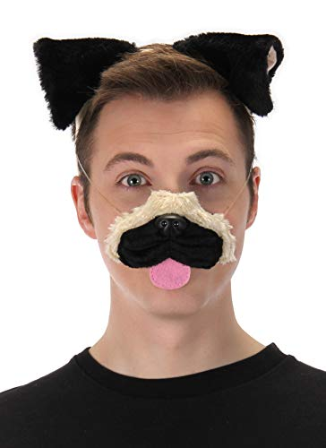 elope Pug Ears Headband Nose & Tail Kit -