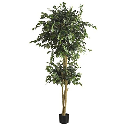 GHP 6' Double Ball Ficus Decorative Artificial Topiary Tree Plants (Topiary Globe)