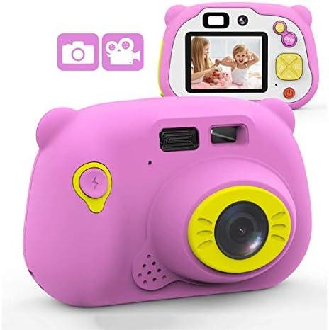 2インチIPSスクリーンと子供のためのキッズカメラ1080P HDデジタルカメラ、3-10歳の男の子女の子のギフトのためのミニ充電式および耐衝撃カメラクリエイティブDIYビデオカメラ