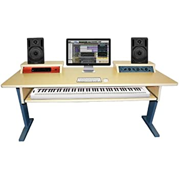 az studio workstations maple keyboard studio desk musical instruments. Black Bedroom Furniture Sets. Home Design Ideas