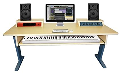 amazon com az studio workstations maple keyboard studio desk rh amazon com studio workstation desk plans studio desk workstation plans