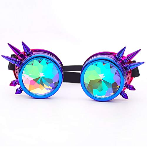 Sugarwewe Novelties Steampunk Goggles Rave Holographic Glasses Rustic Cosplay -