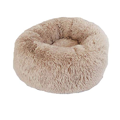 Fashion Pet Cushion Bed Summer Plush Nest Kennel Lovely Tart Warm Comfortable Dog Mat Pad Cat Mat & LYN Star☪ Coffee
