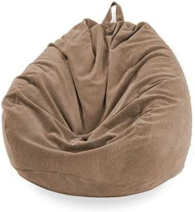 WAQIA Stuffed Storage Bean Bag Chair Cover No Filler Premium Corduroy Extra Large Bean Bag