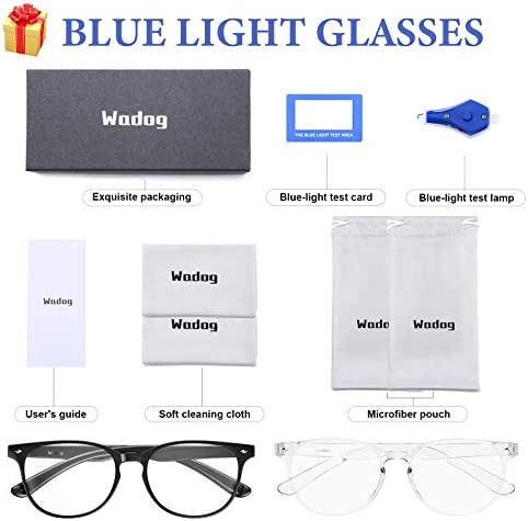 Blue Light Blocking Glasses 2 Pack, Anti Eyestrain Computer Gaming Reading Glasses, Filter UV Glare with HD Transparent Lens Fashion Glasses for Women/Men Non Prescription(Clear & Black)