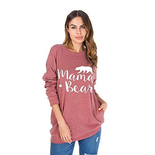 Maniche Da Stampata Famesale Lunghe Donna Maglietta Con Camicetta TZwTUBA1cq