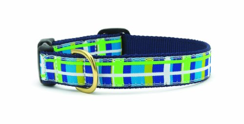 Newport Plaid Quick Release Dog Collar - Small (9-15 Inches) - 5/8 In Width