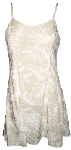 Paradise Found Womens Midnight Garden Princess Seam Mini Sundress in Wedding White - XL