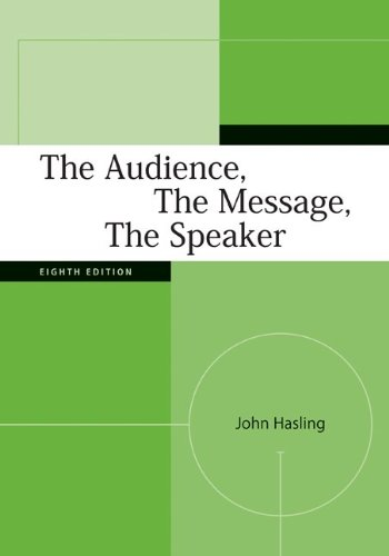 The Audience, The Message, The Speaker