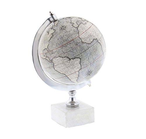 Deco 79 28545 Iron World Decorative Globe with Marble Base 11