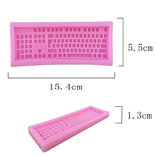 oumosi 3d molde de silicona teclado Forma Fondant Chocolate Candy molde (color al azar): Amazon.es: Hogar
