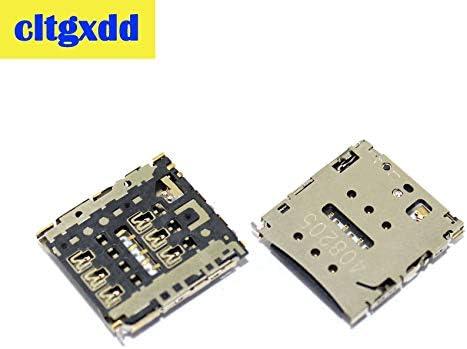 Generic cltgxdd 2pcs Sim Card Socket for Huawei P6 P6-C00 P6-U00 P6-T00 MediaPad X1 7D-501u Memory Card Tray Slot Reader Module
