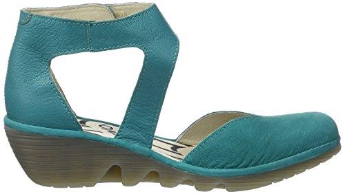 Zapatos Correa de Tacon Fly Correa Zapatos con London Pats801fly para y Verde Mujer 2d2323