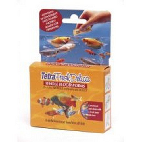 - Tetra Freshdelica Whole Bloodworms For Ornamental Fish