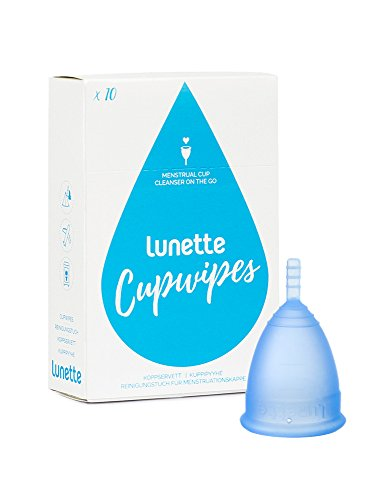 Lunette Menstrual Cup - Starter Kit - Blue Model 2 & Wipes