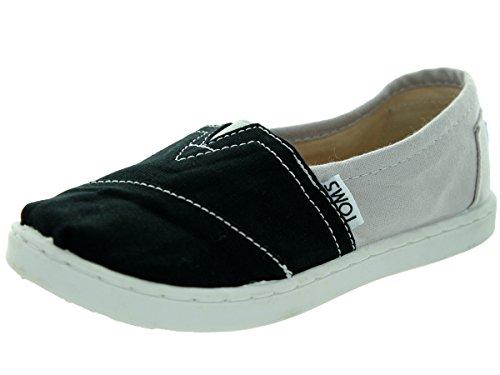 Toms Kids Classic Grey Canvas Color Block Casual Shoe 2.5 Ki