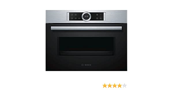 Bosch Serie 8 CFA634GS1 Integrado 36L 900W Negro, Acero inoxidable ...